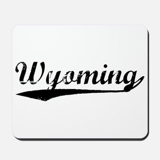 Vintage Wyoming (Black) Mousepad