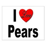 I Love Pears Small Poster