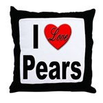I Love Pears Throw Pillow