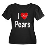 I Love Pears (Front) Women's Plus Size Scoop Neck