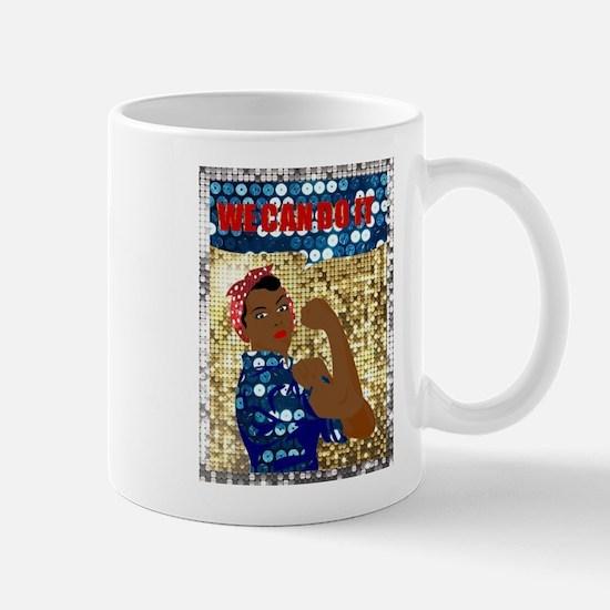 african rosie the riveter Mugs
