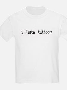 i hate tattoos Kids T-Shirt