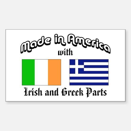Irish-Greek Rectangle Decal