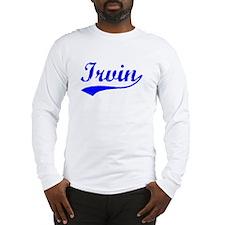 Vintage Irvin (Blue) Long Sleeve T-Shirt