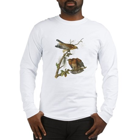 Red-shouldered Hawk (Front only) Long Sleeve T-Shi