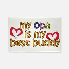 Opa is My Best Buddy Rectangle Magnet