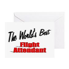 """The World's Best Flight Attendant"" Greeting Card"