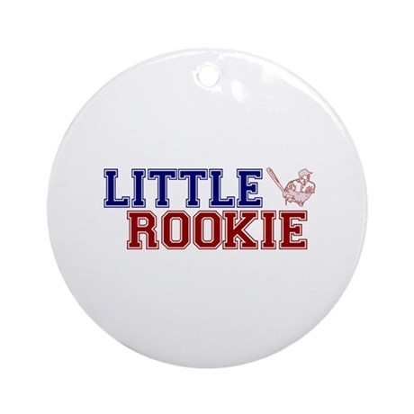 Little Rookie Baseball Ornament (Round)