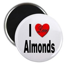 I Love Almonds Magnet