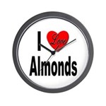 I Love Almonds Wall Clock