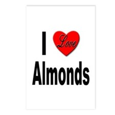 I Love Almonds Postcards (Package of 8)
