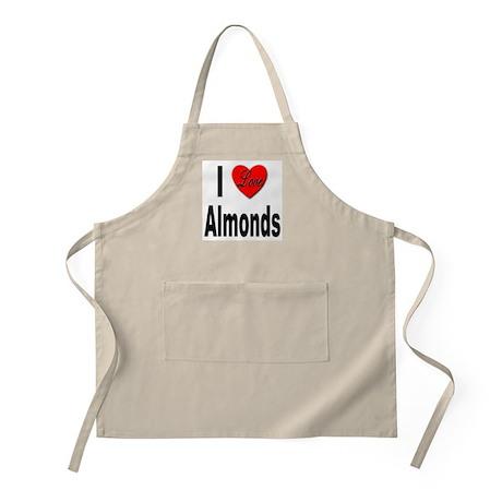I Love Almonds BBQ Apron