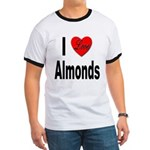 I Love Almonds (Front) Ringer T