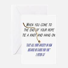 Hang On Spiritual Encouragement Greeting Card