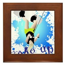 WakeUp! Wakeboarder Framed Tile