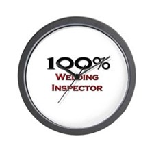 100 Percent Welding Inspector Wall Clock