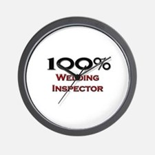 100 Percent Welding Inspector Wall Clock