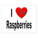 I Love Raspberries Small Poster