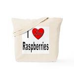 I Love Raspberries Tote Bag