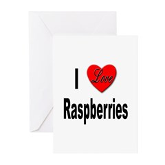 I Love Raspberries Greeting Cards (Pk of 20)