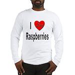 I Love Raspberries Long Sleeve T-Shirt