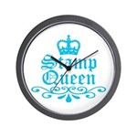 Stamp Queen BL Wall Clock