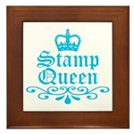 Stamp Queen BL Framed Tile