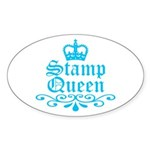 Stamp Queen BL Oval Sticker