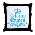 Stamp Queen BL Throw Pillow