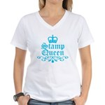Stamp Queen BL Women's V-Neck T-Shirt