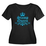 Stamp Queen BL Women's Plus Size Scoop Neck Dark T