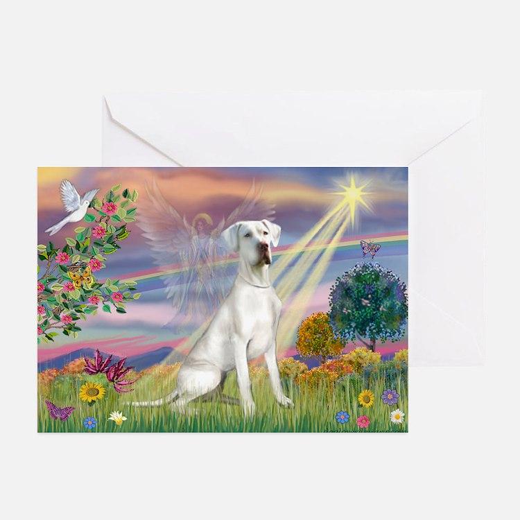 Cloud Angel /Gr Dane (w) Greeting Cards (Pk of 10)