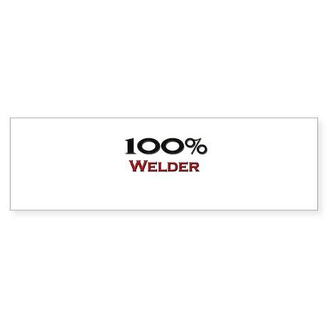 100 Percent Welder Bumper Sticker