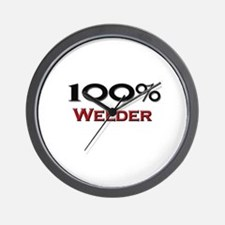 100 Percent Welder Wall Clock