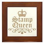 Mocha Stamp Queen Framed Tile