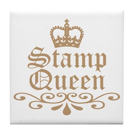 Mocha Stamp Queen Tile Coaster
