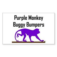 Purple Monkey Buggy Bumpers Rectangle Decal