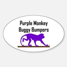 Purple Monkey Buggy Bumpers Oval Decal