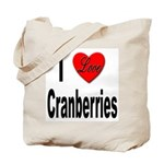 I Love Cranberries Tote Bag