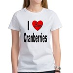 I Love Cranberries (Front) Women's T-Shirt