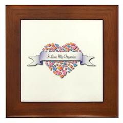 Love My Organist Framed Tile