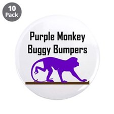 "Purple Monkey Buggy Bumpers 3.5"" Button (10 pack)"