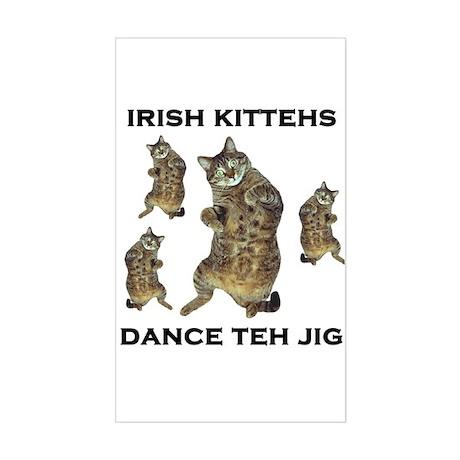 Irish Kitteh Rectangle Sticker
