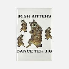 Irish Kitteh Rectangle Magnet