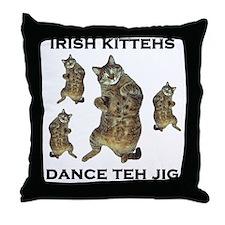 Irish Kitteh Throw Pillow