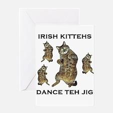 Irish Kitteh Greeting Card
