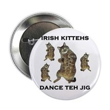 "Irish Kitteh 2.25"" Button"