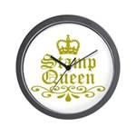 Gold Stamp Queen Wall Clock