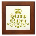 Gold Stamp Queen Framed Tile