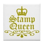Gold Stamp Queen Tile Coaster